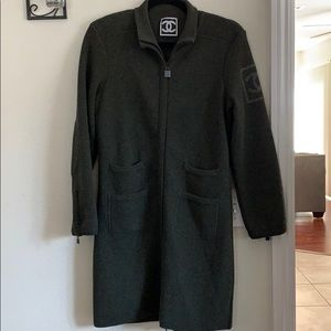 CHANEL long wool cardigan